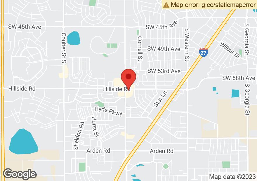 Google Map of 5921 HILLSIDE RD