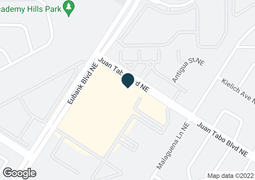 Google Map of5850 EUBANK BLVD NE