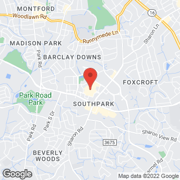 Map of Sunglass Hut at 4400 Sharon Rd, Charlotte, NC 28211