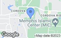 Map of Cordova, TN