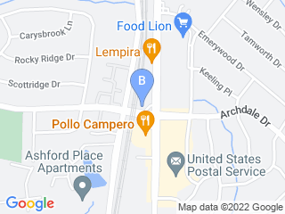 Map of Archdale Animal Hospital Dog Boarding options in Charlotte | Boarding