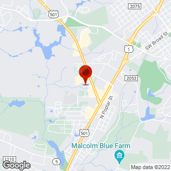 Map of Staples® Print & Marketing Services at 290 Turner Street, Aberdeen, NC 28315