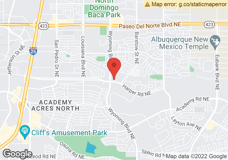 Google Map of 8011 HARPER DR NE