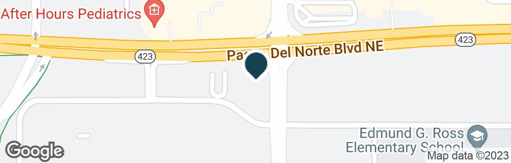 Google Map of6250 PASEO DEL NORTE NE