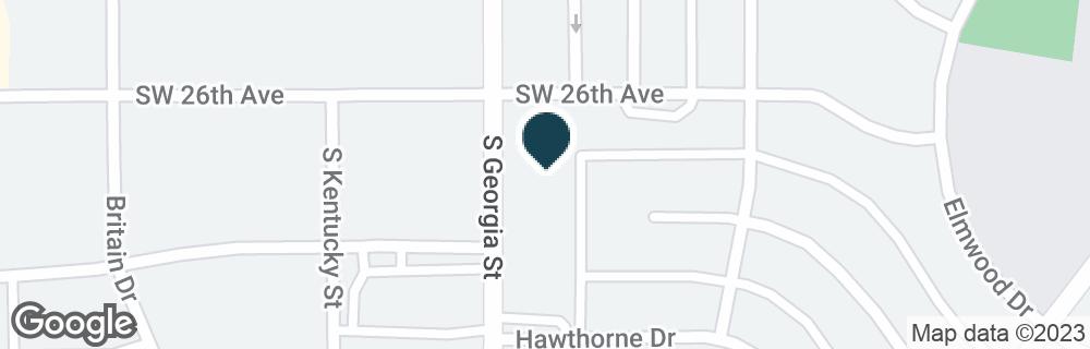 Google Map of2601 S GEORGIA ST