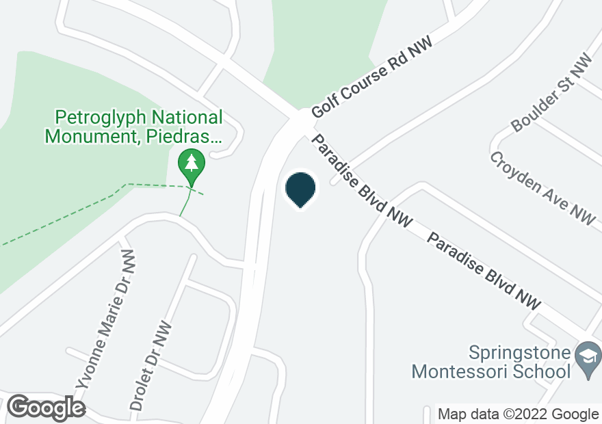 Google Map of9500 GOLF COURSE RD NW