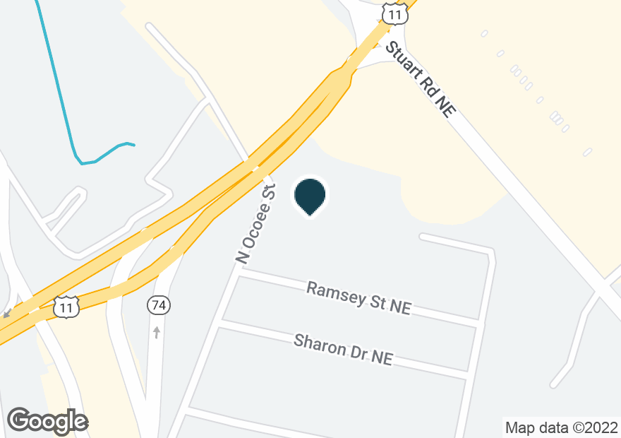 Google Map of4420 OCOEE ST N