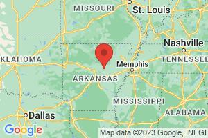 Map of Arkansas Ozark Mountains