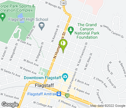 Map of 405 N Beaver St in Flagstaff