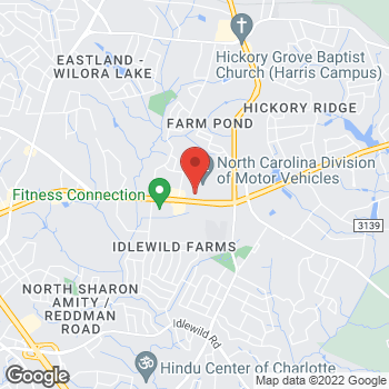 Map of CashPoints® ATM at 6624 EXECUTIVE CIRCLE, Charlotte, NC 28212