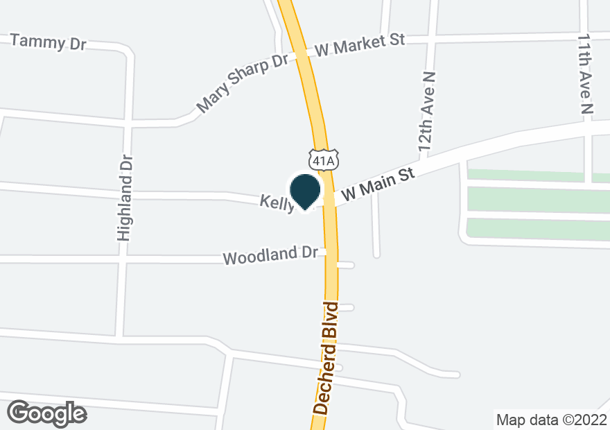 Google Map of1855 DECHERD BLVD