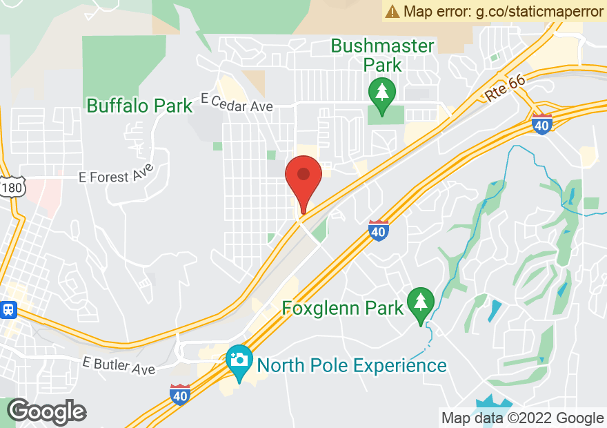 Google Map of 2610 E ROUTE 66