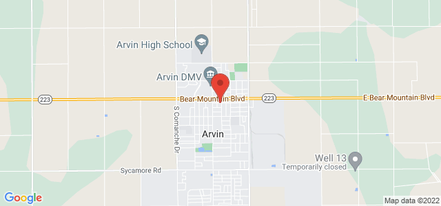 Arvin Flowers & Gifts Map