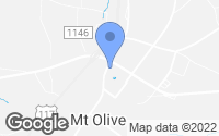 Map of Mount Olive, NC