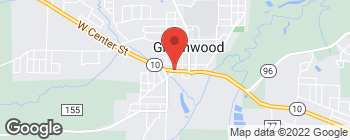 Map of 1 Gov Bass Little St in Greenwood