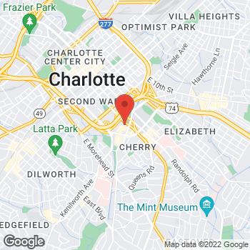 Map of State Employees' Credit Union at 1130 E Third St, Charlotte, NC 28204