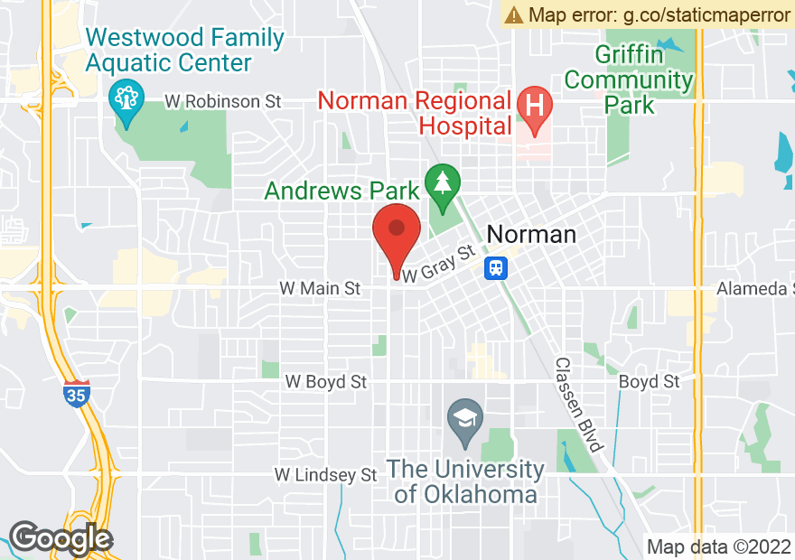 Google Map of 615 W MAIN ST