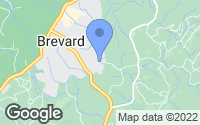 Map of Brevard, NC
