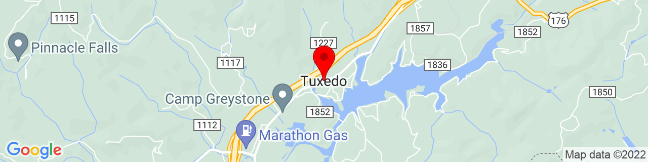 Google Map of 35.2253945, -82.4295635