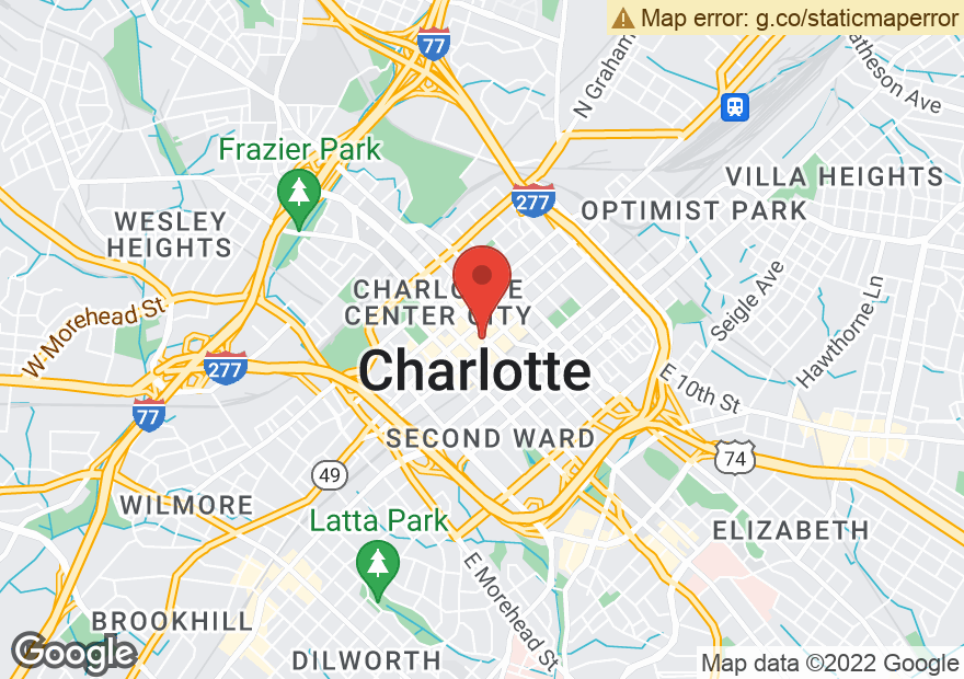 Google Map of 101 S TRYON ST