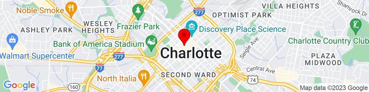 Google Map of 35.2270869, -80.8431267