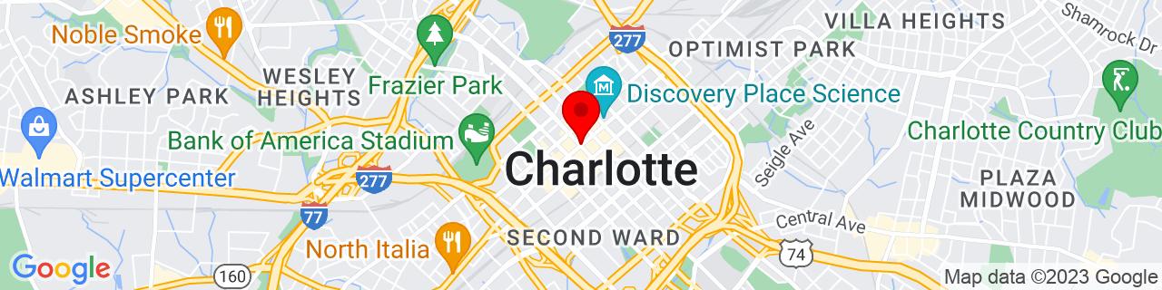 Google Map of 35.227222222222224, -80.84305555555555