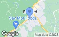 Map of Brevard, NC