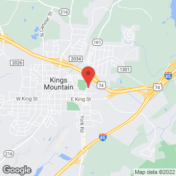 Map of Arby's at 216 Cleveland Avenue, Kings Mountain, NC 28086