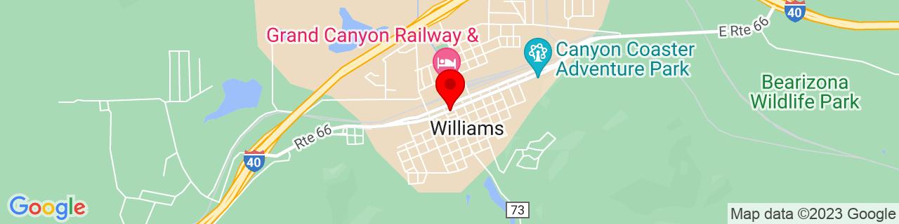 Google Map of 35.24944444444444, -112.19111111111111