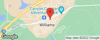 Map of 116 S 1st St in Williams