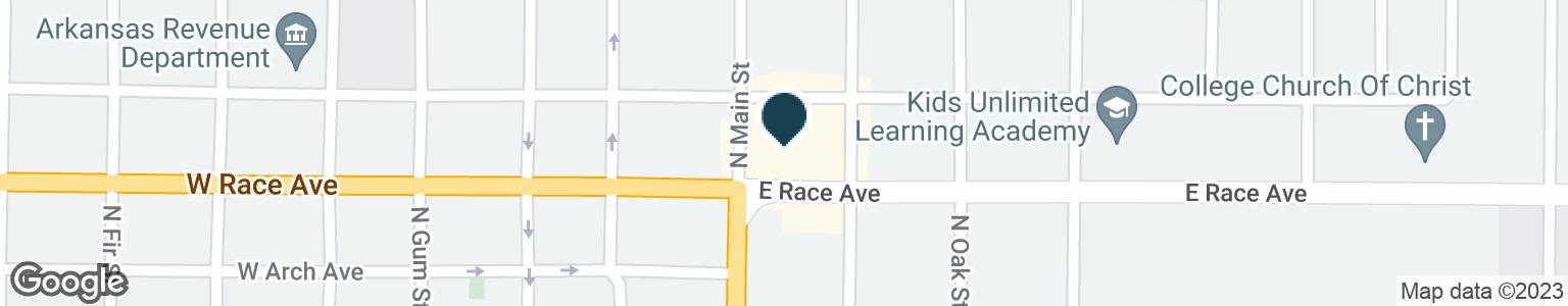 Google Map of200 E RACE AVE