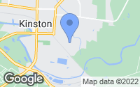 Map of Kinston, NC