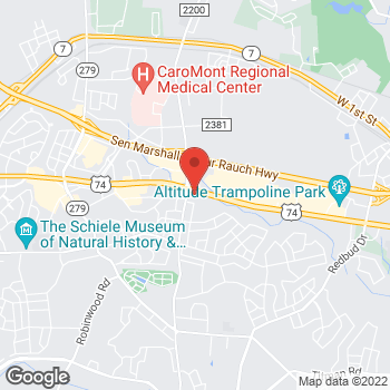 Map of Panera Bread at 2625 East Franklin Boulevard, Gastonia, NC 28056