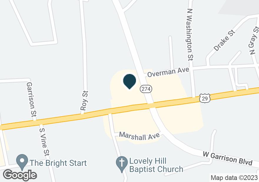 Google Map of1902 W FRANKLIN BLVD