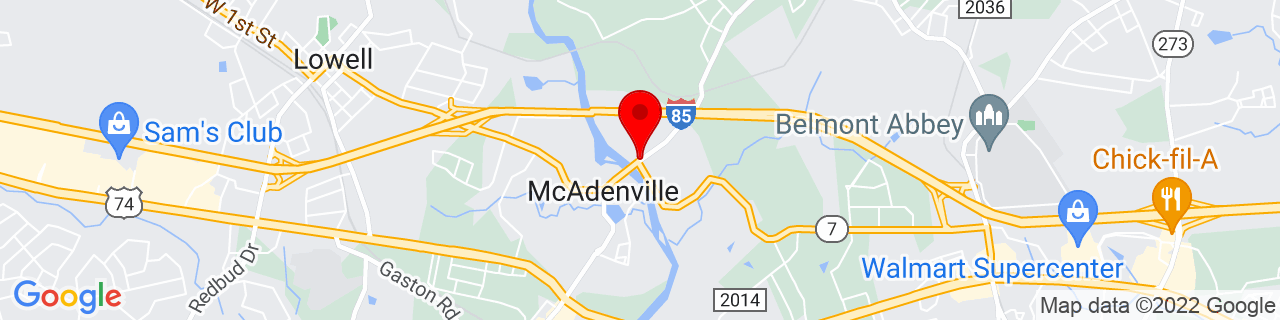 Google Map of 35.2608657, -81.0730954