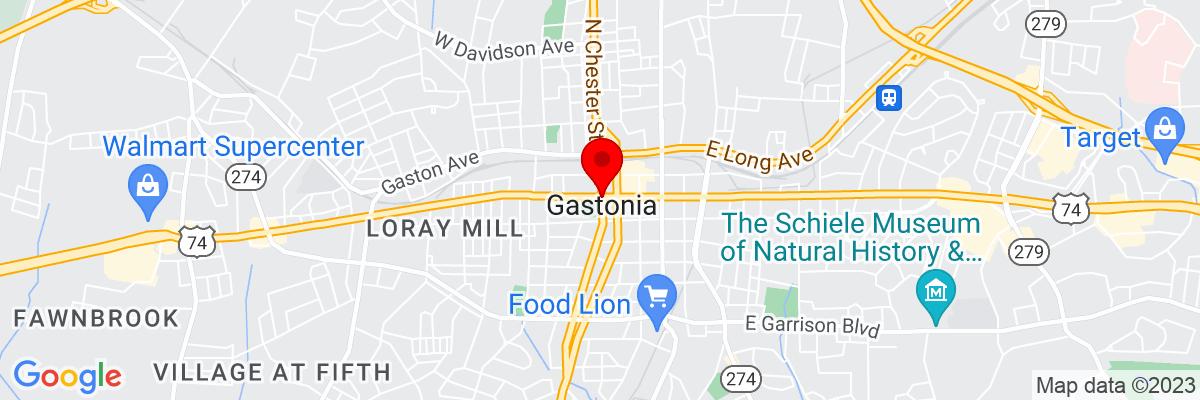 Google Map of 35.262081944444,-81.187300555556