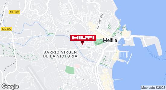 Obtener indicaciones para Hilti Melilla - Pronor Cuatro Caminos S.L