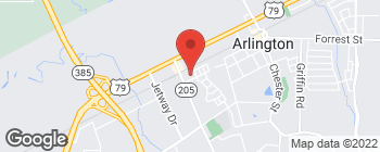 Map of 6050 Airline Rd in Arlington
