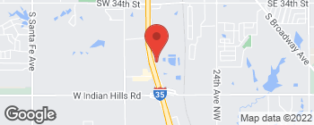Map of 6401 N Interstate Dr in Norman