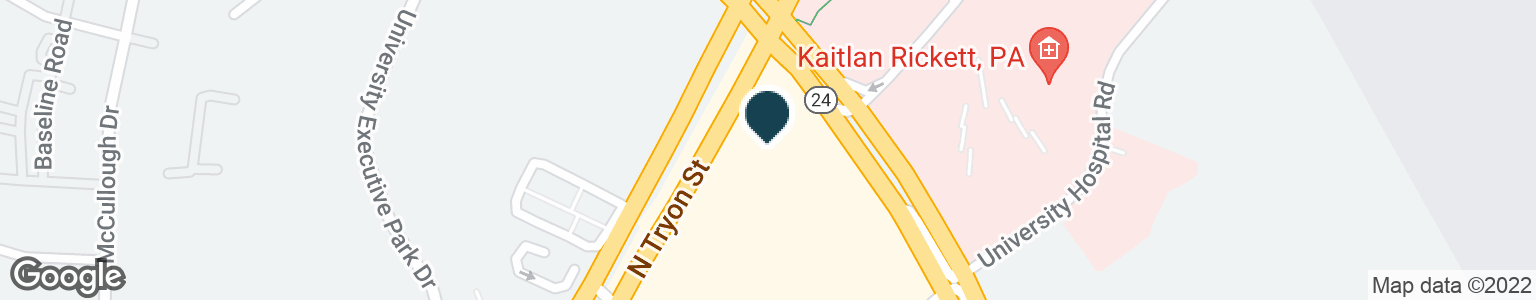 Google Map of8538 N TRYON ST