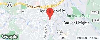 Map of 117 W Barnwell St in Hendersonville