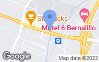 Map of Bernalillo, NM
