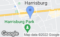 Map of Harrisburg, NC