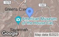 Map of Sylva, NC