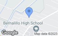 Map of Bernalillo, NM