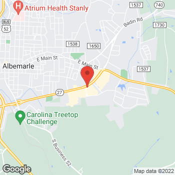 Map of Arby's at 710 Nc 24 27 Byp E, Albemarle, NC 28001-5348