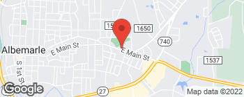 Map of 1429 E Main St in Albemarle