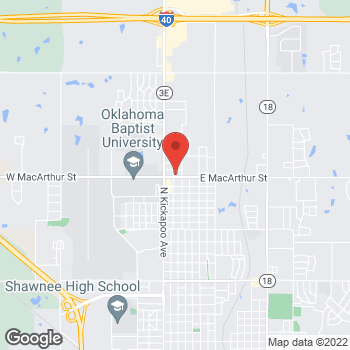 Map of Check `n Go at 330 West MacArthur Street, Shawnee, OK 74804