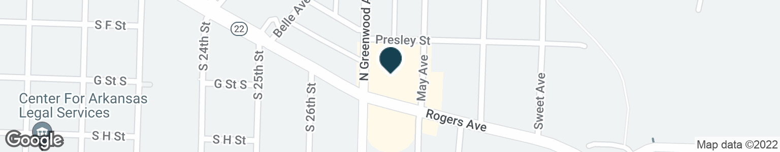 Google Map of2701 ROGERS AVE