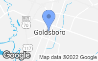 Map of Goldsboro, NC